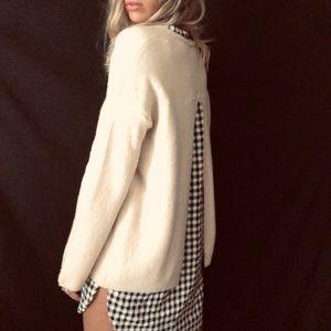 •Caslon• wool blend sweater/built in shirt